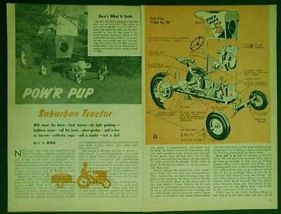 Small Tractor Powr Pup Work Horse 10hp How-to Build Plans