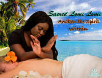 The traditional Sared Hawaiian Lomi Lomi Massage Experience!
