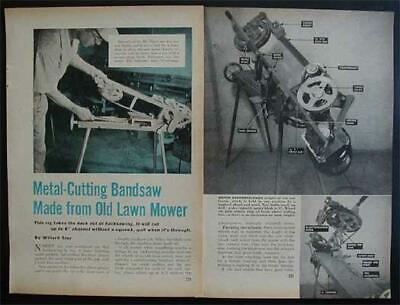 Metal Cutting Horizontal Bandsaw Howto Build Plans Build From Junk