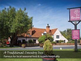 Restaurant waiting & bar staff wanted for destination Essex pub. Immediate start available