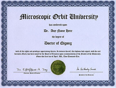 Doctor Qigong Novelty Diploma Six Healing Sounds Lover