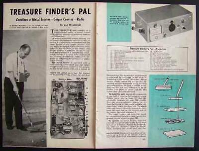 Metal Detector-geiger Counter-radio 1961 How-to Build Plans