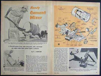 Cement Mixer 25 Gallon Howto Build Plans Gas Engine