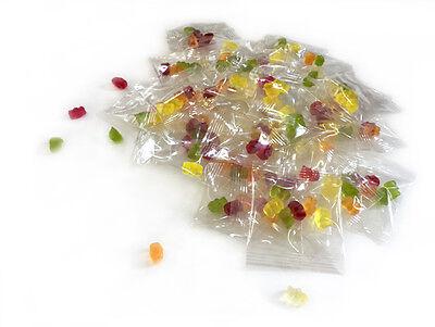 250 Minibeutel Gummibärchen Weingummi Fruchtgummi (ohne Bedruckung)