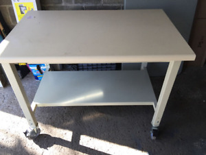 Lista Assembly Table w/ Wheels & Static Dissipative Work Surface
