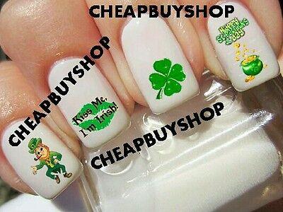 St Patricks Day Sale (Flash Sale》HAPPY ST PATRICKS DAY LEPRECHAUN, KISS ME I'M IRISH》Nail Art)