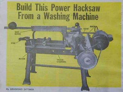 Build Power Hacksaw From A Washing Machine How-to Plans