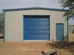 Garages, storage buildings, work shops