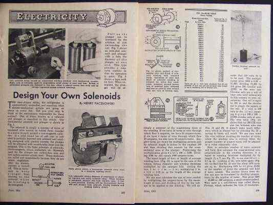 How-To Design AC/DC SOLENOIDS & PLUNGER 1951 INFO