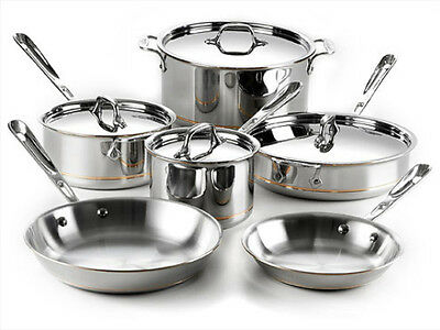 ALL-CLAD 10PC COPPER CORE COOKWARE SET 600822 ...