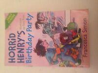 Simon, Francesca-Horrid Henry`S Birthday Party BOOK NEW