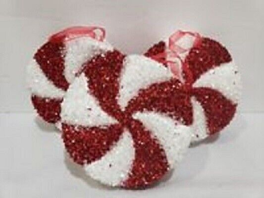 Christmas Holiday LARGE Red White Candy Cane Peppermint Orn