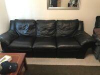 Three Piece Leather Sofa (Large)