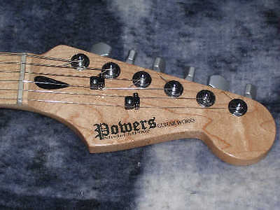 Custom waterslide guitar headstock decals