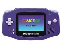PURPLE GAMEBOY ADVANCE AND GAME