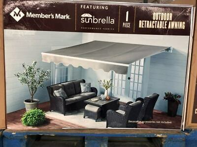 MEMBERS MARK OUTDOOR 11.5' x 10' RETRACTABLE SUNBRELLA AWNING *NEW* ()