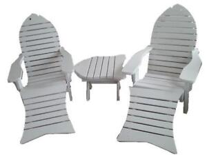 Amish Handcrafted Heavy Duty White Cedar Fish Chair - Free Shipping