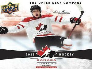 2016-17 Upper Deck TC World Juniors Hockey Cards Hobby Box Kitchener / Waterloo Kitchener Area image 2