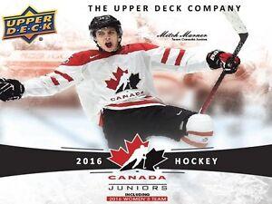 2016-17 Upper Deck TC World Juniors Hockey Cards Hobby Box Kitchener / Waterloo Kitchener Area image 2