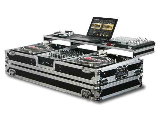 """REMIXER GLIDE STYLE DJ COFFIN FOR 2 TURNTABLES & A 12"""" FORMAT DJ MIXER WITH R..."""
