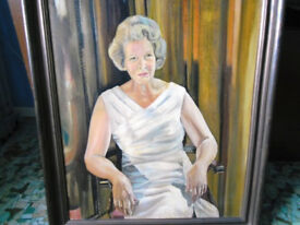 OIL PAINTING OF LADY SITTER