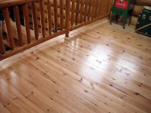 1 x 6 Red Pine T&G flooring