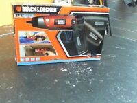 BLACK & DECKER CORDLESS SCREW DRIVER
