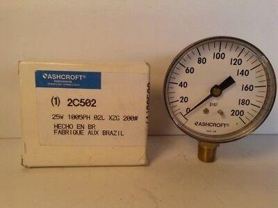 Ashcroft 2c502 2 12 Pressure Gauge 200 Psi 14 Mnpt