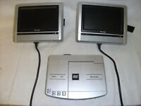 "PORTABLE DVD PLAYER WITH TWIN 7"" SCREEN"