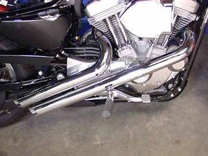 Radii Chrome Viper Slash Exhaust Pipes for 2004-2013 Harley Sportster Nightster