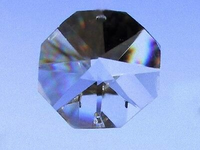 4 handgeschliffene Oktagon Regenbogenkristalle 22 mm