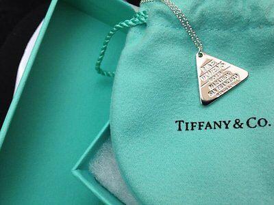 Tiffany & Co Nike 2013 San Francisco Marathon Necklace with pendant/Pouch/Box