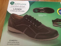 LADIES COMFORT CASUAL BLACK SHOES SIZE UK 4 EU 37 New in box
