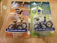 BMX type Flick Trix finger bikes. Huffy and Mongoose - rare collectables.