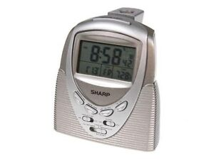 Electric-Sharp-Radio-Controlled-Projection-Projector-Alarm-Clock-w-Date-Temp