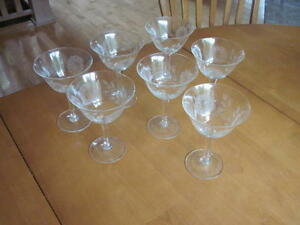 Cornflower Crystal Wine Glasses
