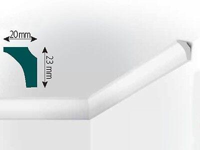 XPS Stuck Deckenleiste, 2000x20x23mm, Fachhandelsqualität, Mod. K3