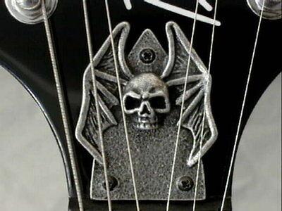 SKULL METAL TRUSS ROD COVER for bc rich BEAST kkv kerry king warbeast GUITAR !!
