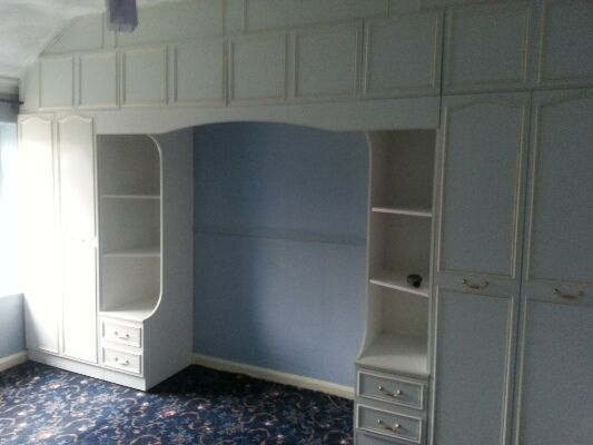 overhead bedroom furniture. Free - Fitted Bedroom Furniture; Double Wardrobes, Overhead Cupboards Etc White Retro Style Furniture