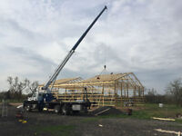 Mobile Boom Truck Crane Rental-22ft Flatbed-Man Basket-135 hour!