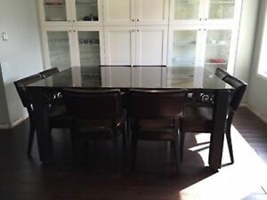 Wrought Iron with Glass top Table