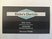 Licensed Electrical Contractor- Blake's Electric