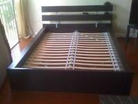 Double ikea bed frame no mattress