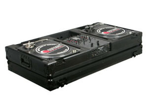 Odyssey Black Label DJ Battle Coffin for Turntables & 10in Mixer