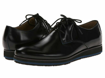 Hush Puppies Men's Halo Oxford Plain Toe Black Leather Oxford  Puppies Plain Leather
