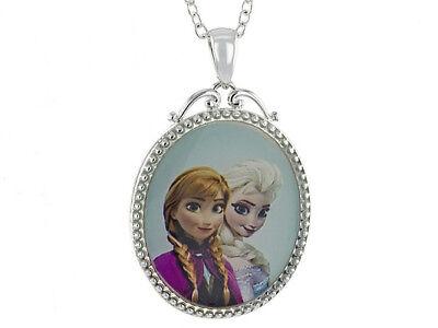 Elsa Anna Frozen Disney KINDER Besten Freunde Schrift Anhänger Halskette