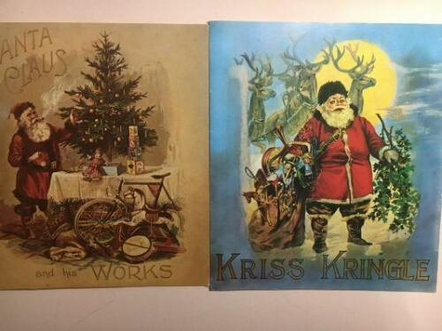 Lot of 2 Victorian Reprints: KRISS KRINGLE & SANTA CLAUS and his Works CLASSIC!!
