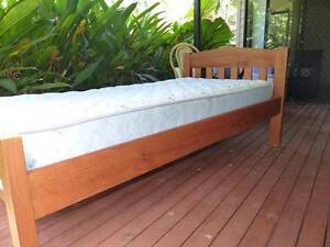 Single Bed Frame and Mattress, good quality solid timber + slats Redlynch Cairns City Preview