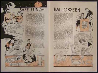 Vintage HALLOWEEN Costumes/Tricks/Gags/ 1936 original How-To build PLANS (Halloween Costumes Original)