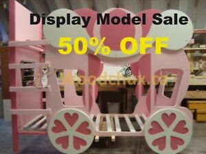 CINDERELLA CARRIAGE Twin over Twin BUNK BED * * ♥‿♥